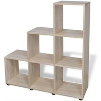 vidaXL Boekenkast/presentatiemeubel trapvormig 107 cm eikenkleur