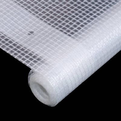 vidaXL Leno dekzeil 260 g/m² 4x8 m wit