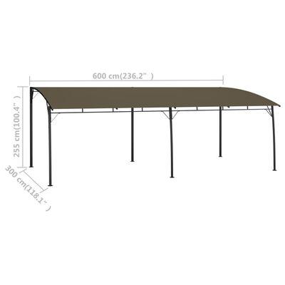 vidaXL Zonneluifel 6x3x2,55 m taupe