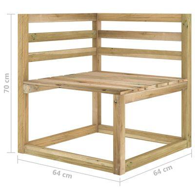 vidaXL 8-delige Loungeset groen geïmpregneerd grenenhout