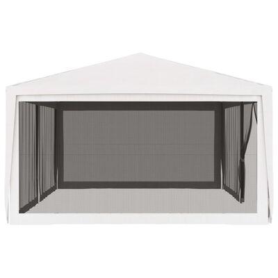 vidaXL Partytent met 4 mesh zijwanden 4x6 m wit