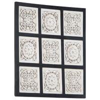 vidaXL Wandpaneel handgesneden 60x60x1,5 cm MDF zwart en wit