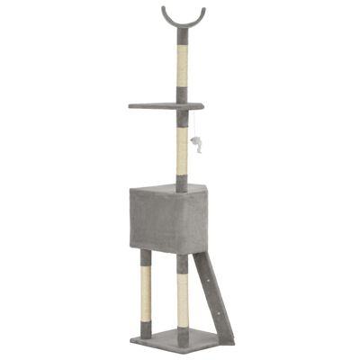 vidaXL Kattenkrabpaal met sisal krabpaal 180 cm grijs