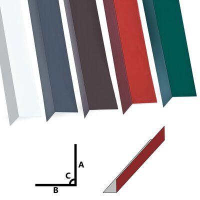 vidaXL Hoekplaten 5 st L-vormig 90° 170 cm 100x100 mm aluminium rood