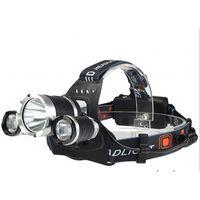 Waterdichte koplamp LED - Zwart / zilver