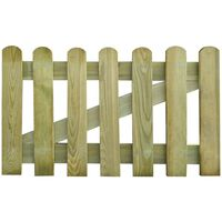 vidaXL Poort 100x60 cm hout
