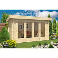 Carlsson tuinhuis Java-44 A ISO met grote vouwdeur met grote vouwdeur