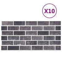 vidaXL 11 st Wandpanelen 3D zwarte en grijze baksteen EPS