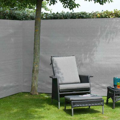Nature Tuinscherm 1x3 m PE grijs