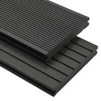 vidaXL Terrasplanken met accessoires 10 m² 4 m massief HKC zwart