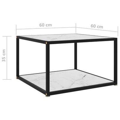 vidaXL Salontafel 60x60x35 cm gehard glas wit