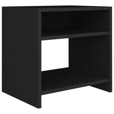 vidaXL Nachtkastjes 2 st 40x30x40 cm spaanplaat zwart