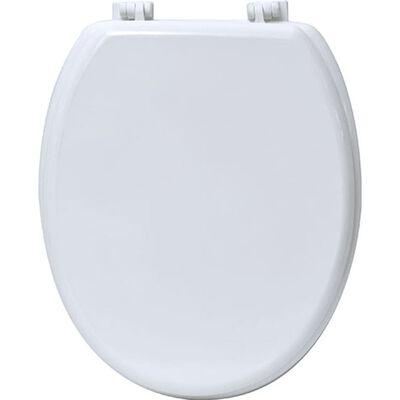 Praktische Toiletbril Van Mdf – Wit – 18inch – 37,5x46cm - Wc Bril –
