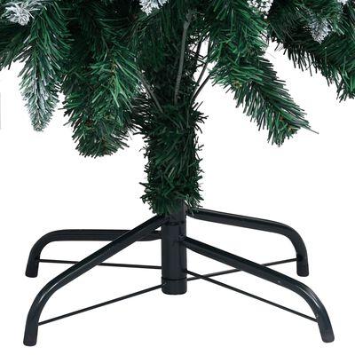 vidaXL Kunstkerstboom met dennenappels en witte sneeuw 150 cm