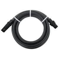 vidaXL Zuigslang met PVC koppelingen 4 m 22 mm zwart