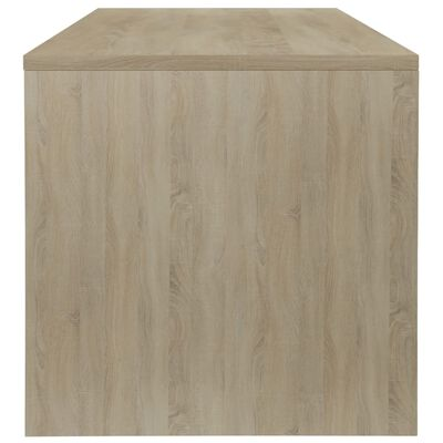 vidaXL Salontafel 100x40x40 cm spaanplaat wit en sonoma eikenkleurig  , Wit en sonoma eikenkleur