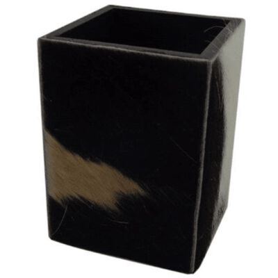 Koeienhuid Pennenbakje Zwart/Wit