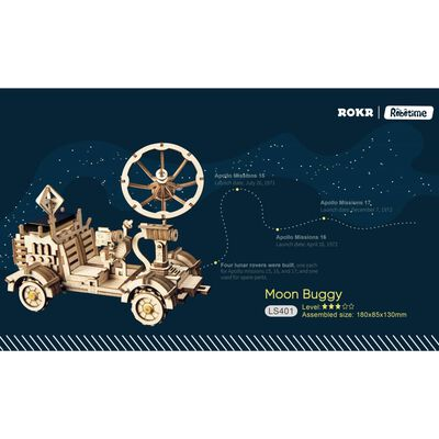 Robotime Speelgoedauto Rambler Rover solar