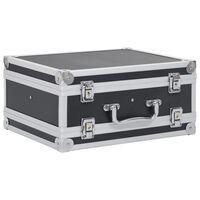 vidaXL Wapenkoffer aluminium ABS zwart