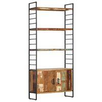 vidaXL Boekenkast met 4 schappen 80x30x180 cm massief gerecycled hout