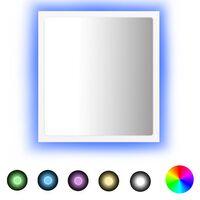 vidaXL Badkamerspiegel LED 40x8,5x37 cm spaanplaat wit