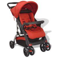 vidaXL Buggy 102x52x100 cm rood