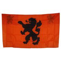 Nederland Cape Vlag oranje/zwart 90 x 150 cm
