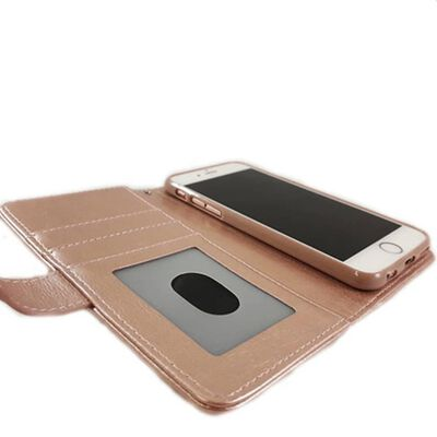 Hem Apple Iphone 12 Pro Max - Magic Glitter Rose Gold - Leren Rits