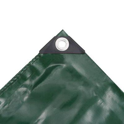 vidaXL Dekzeil 650 g/m² 3,5x5 m groen