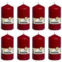 Bolsius Stompkaarsen 8 st 130x68 mm wijnrood