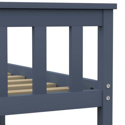 vidaXL Bedframe massief grenenhout grijs 90x200 cm , Grijs