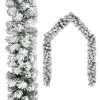 vidaXL Kerstslinger met sneeuw 20 m PVC groen