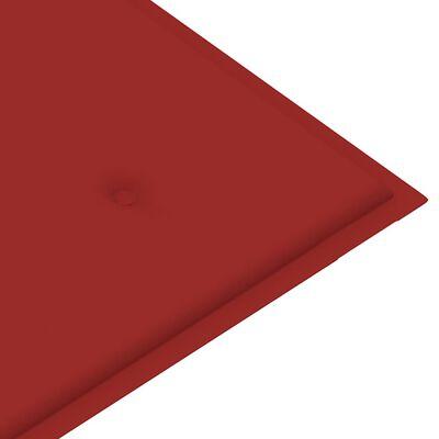 vidaXL Tuinbank stapelbaar met kussen 128,5 cm massief teakhout