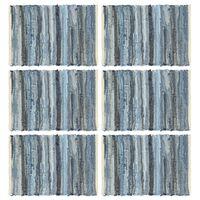 vidaXL Placemats 6 st chindi 30x45 cm katoen denimblauw