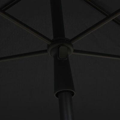 vidaXL Parasol met paal 210x140 cm antracietkleurig, Anthracite