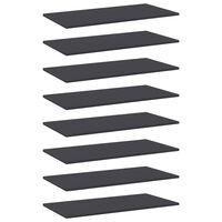 vidaXL Wandschappen 8 st 80x40x1,5 cm spaanplaat grijs