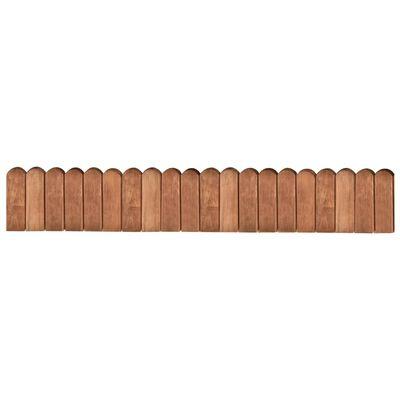 vidaXL Gazonrand 120 cm geïmpregneerd grenenhout bruin