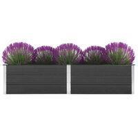 vidaXL Plantenbak verhoogd 250x50x54 cm HKC grijs