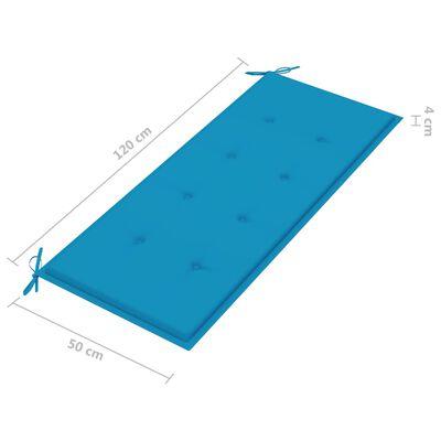 vidaXL Tuinbank met kussen 120 cm massief acaciahout