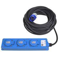 ProPlus Contactdoos 3-weg Schuko aansluiting 2 USB 20 m