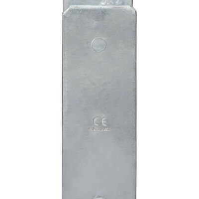 vidaXL Grondankers 6 st 7x6x60 cm gegalvaniseerd staal zilverkleurig