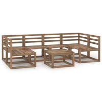 vidaXL 7-delige Loungeset bruin geïmpregneerd grenenhout
