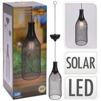 ProGarden Hanglamp solar LED 11 cm metaal