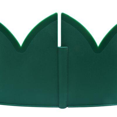 vidaXL Gazonranden 10 st 65x15 cm PP groen