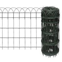 vidaXL Borderafscheiding 25x0,65 m gepoedercoat ijzer
