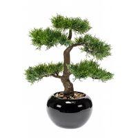 Emerald Kunstplant ceder bonsai groen 34 cm 420001