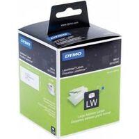 Dymo 99012 (S0722400) Etiket Zwart op wit (36 mm x 89  mm) 2 rollen