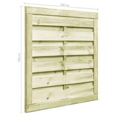 vidaXL Poort 100x100 cm geïmpregneerd grenenhout groen