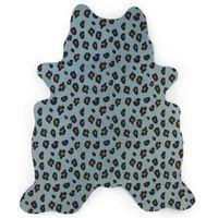CHILDHOME Kindertapijt 145x160 cm luipaardprint blauw