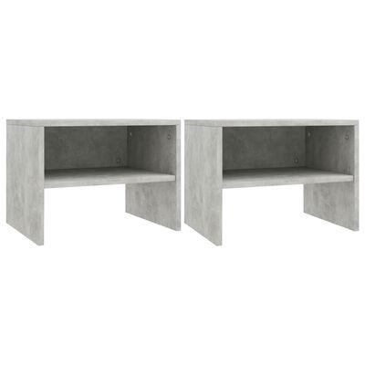 vidaXL Nachtkastjes 2 st 40x30x30 cm spaanplaat betongrijs